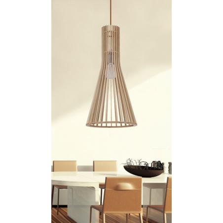 suspension bois lampe suspension en bois et bton blanc vika with suspension bois good with. Black Bedroom Furniture Sets. Home Design Ideas