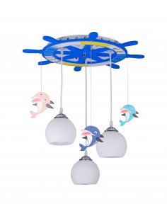 Suspension enfant Delfino 3 Bleu