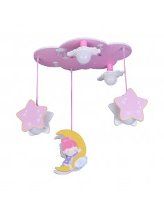 Suspension enfant Stardream 5 Rose