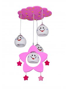 Suspension enfant - Luckyled 4 Rose
