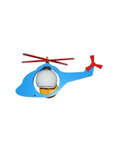 Applique Murale enfant - Bleu - Hélicoptère Minireve BL