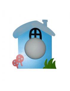 Applique Murale enfant - Bleu - Maisonnette  Piccola BL