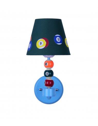 applique enfant en forme de billard genius d gr bleu. Black Bedroom Furniture Sets. Home Design Ideas