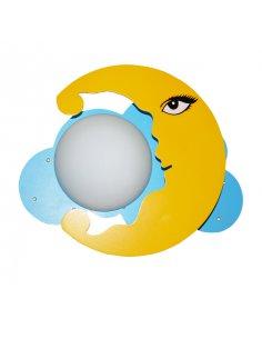 Applique Murale Enfant - Jaune et bleu - Lune - Sleepy Moon Y + BL
