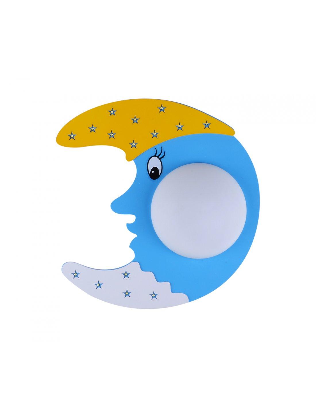 applique enfant en forme de lune - lunacloun - bleu