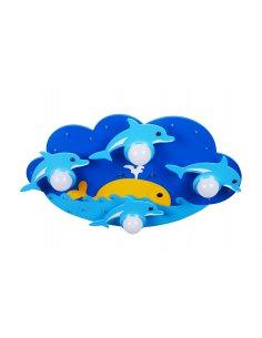 Plafonnier Enfant - Bleu - Dolphiled 4 BL - Dauphin