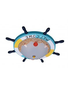 Ceiling lamp child - Blue - ship's steering wheel - Naviled BL