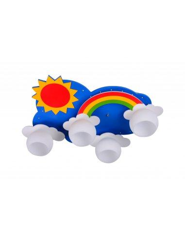 Plafonnier Enfant - Bleu et Jaune - Rainbow 4 BL + Y - Arc-en-ciel