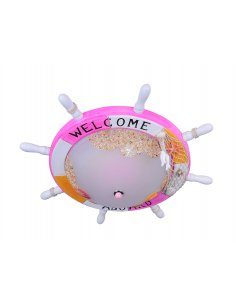 Ceiling lamp child - Pink - ship's steering wheel - Dreamled PK