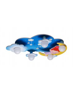 Ceiling lamp child - Blue - Sky - Bludore 5 BL