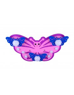Ceiling lamp child - Pink and Blue - Butterfly - Farfaled 9 PK + BL