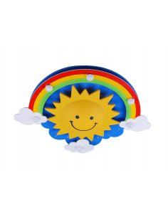Ceiling lamp child - Blue and Yellow - Sun - Smily 7 BL + Y