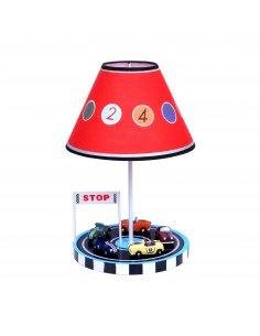 Lampe de table enfant - Rouge et Noir - Defilamp RD - Voiture