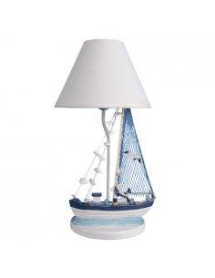 Lampe de table Enfant - Voilier - Bleu - Petibato BL