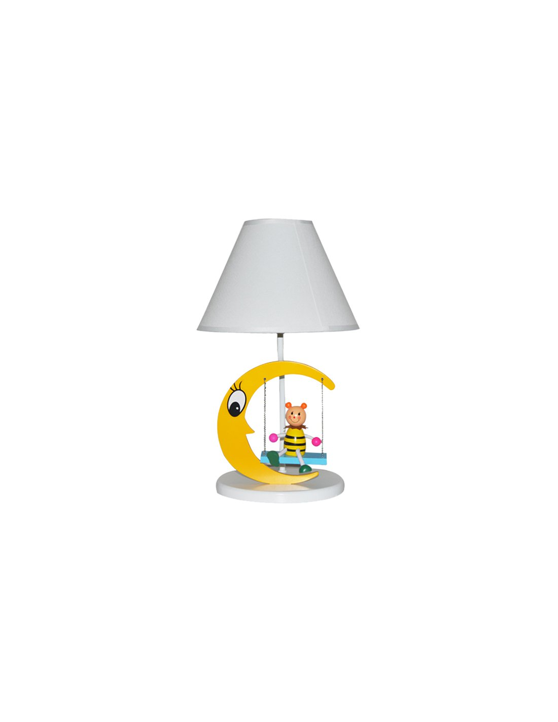 Table Lamp In The Shape Of Moon Lunaswing Y Yellow