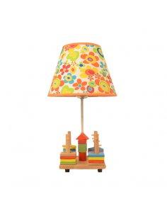 Lampe de table Enfant -  Jeux en bois - Jaune - Woody Y