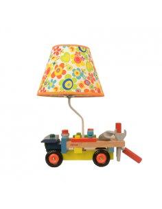Lampe de table Enfant - Jaune - Bricolage - Bricolamp Y