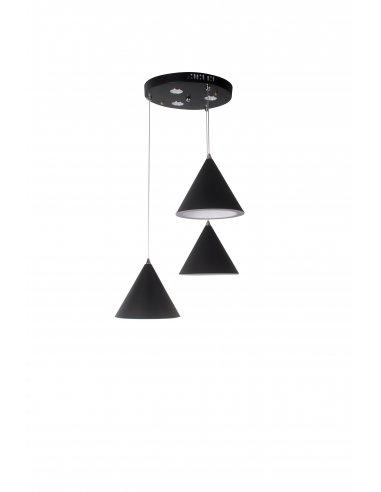 Suspension Led intégré - Orbil 3 - Noir