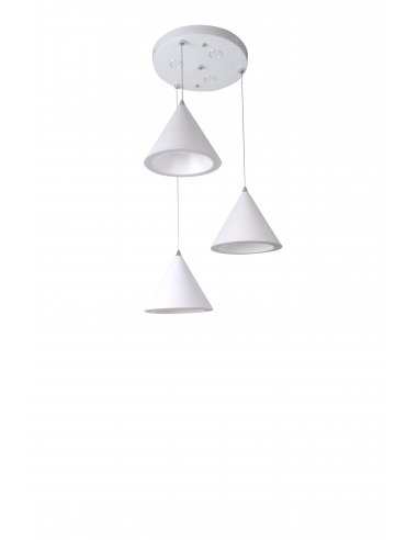 Suspension Led intégré - Orbil 3 - Blanc