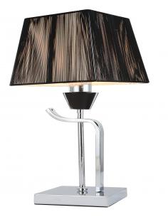 Lampe de table Andalousia A 1T - Chrome - Abat-jour tissu Noir
