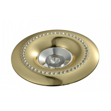 Spot Round  Built - In Aluminum  &  Crystal                   Gold