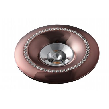 Spot Round  Built -  In Aluminum  &  Crystal                  Rosy Gold