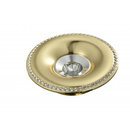 Spot  Round    Built-In Aluminum & Crystal                   Gold