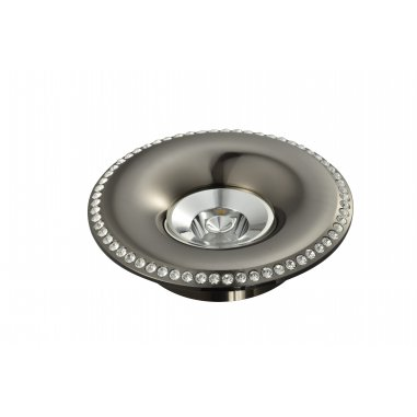 Spot  Round    Built-In Aluminum & Crystal             Dark Grey