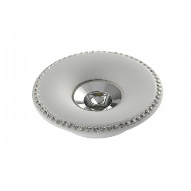 Spot  Round    Built-In Aluminum & Crystal            White