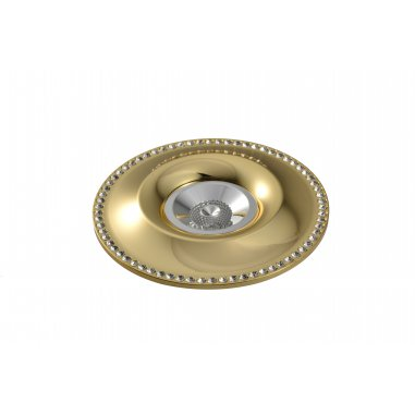 Spot Round   Aluminum      crystal                  Gold