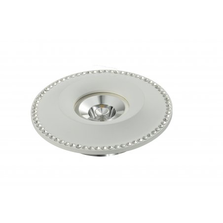 Spot  Round      Aluminum            Crystal               White