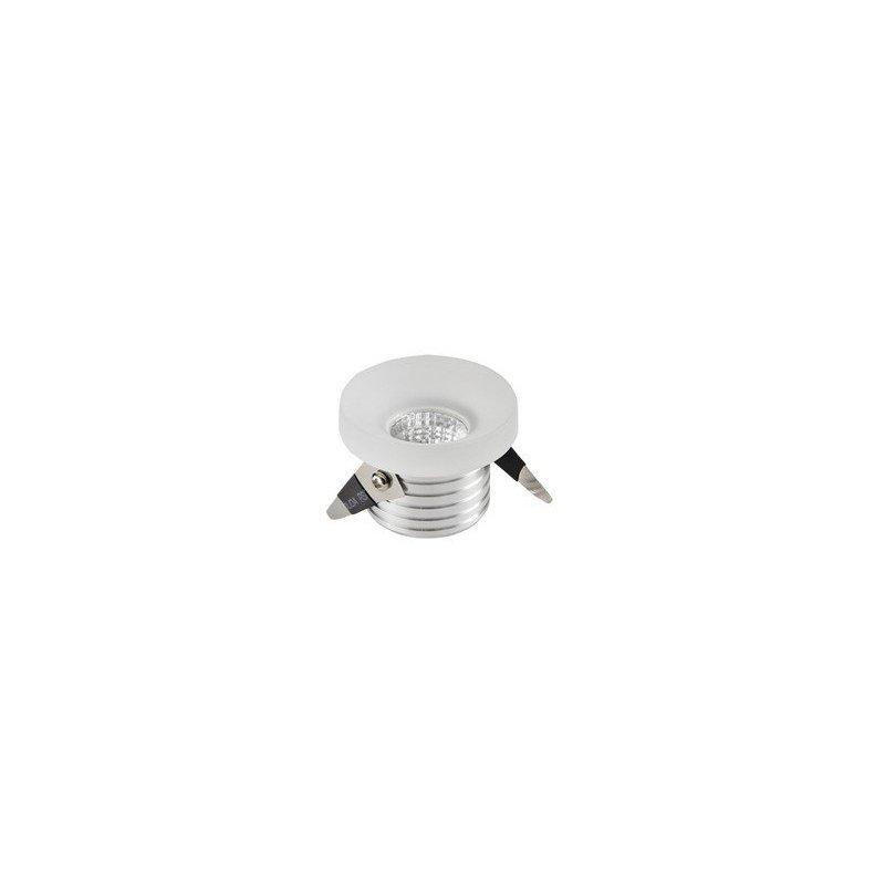 petit spot design blanc avec led int gr 3 watt diam tre 47 mm. Black Bedroom Furniture Sets. Home Design Ideas