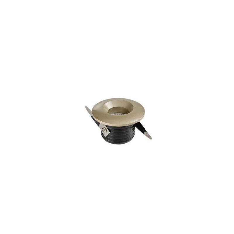 petit spot design champagne avec led int gr 3 watt diam tre 47 mm. Black Bedroom Furniture Sets. Home Design Ideas