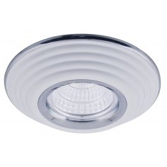 Spot Encastrable Décoratif - Rond - L1081C - Aluminium - Blanc / Chrome