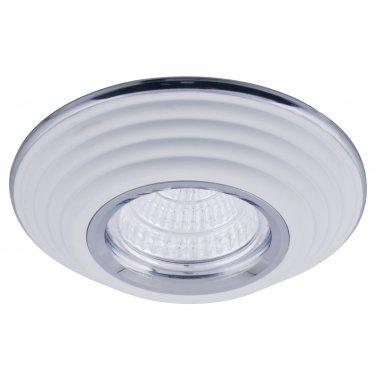 Spot  Round  Aluminum          White  & Chrome
