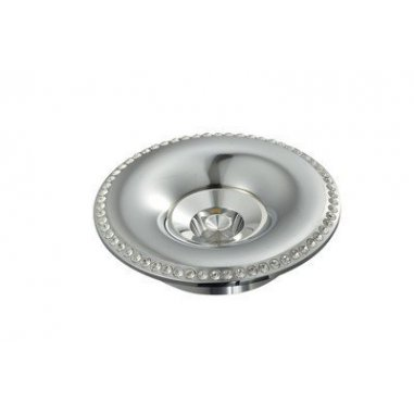 Spot  Round    Built-In Aluminum & Crystal           Chrome