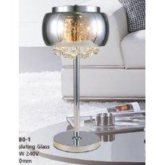 Lampe de table Verre - T-Galaxie Chrome